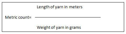 Metric Count formula