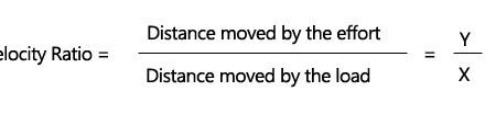 Velocity ratio formula