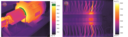 Figure 1: Thermal Images from Testo Thermal Imager