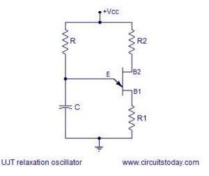 Construction of UJT relaxation oscillator