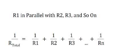 resistor in parallel formula