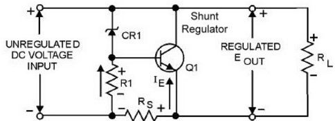 transistor shunt regulator