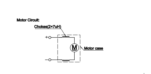 Electrical characteristics of motor